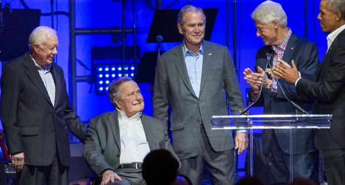 Пять бывших президентов США выступили на благотворительном концерте