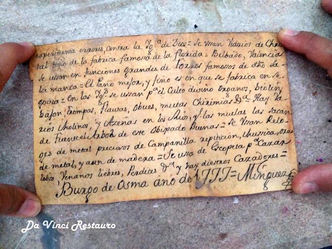 Реставраторы Испании нашли внутри статуи Христа записку 1777 года