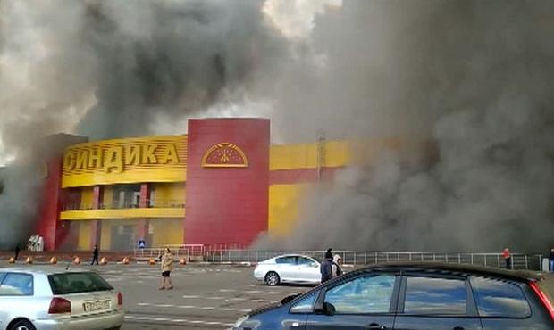 Сильнейший пожар уничтожил московский рынок