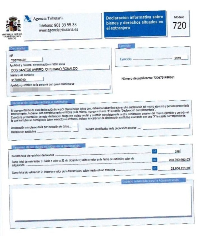 Сколько денег у легендарного Криштиану Роналду: футболист обнародовал декларацию о доходах (документ)
