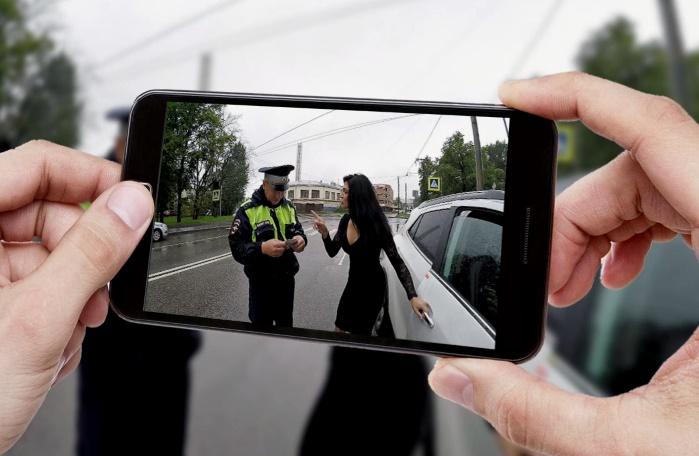 штраф, без страховки, ОСАГО, наказание, инспектор, водитель, видеосъемка