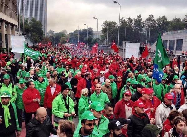 Социальные требования от профсоюзов Бельгии: в Брюсселе прошел многотысячный митинг