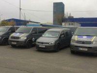 Сожжено триавтомобиля муниципальной полиции, —ГСЧС