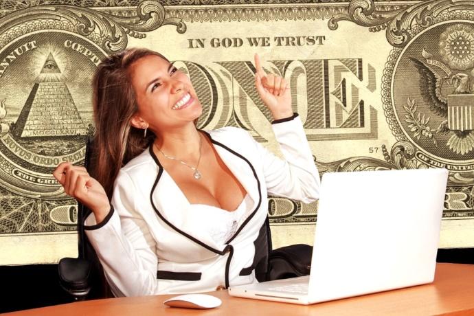 Доллар, купюра, банкнота, надпись, Бог, монета