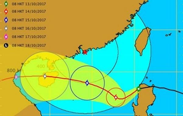 Тропический шторм Ханун угрожает Китаю, Филиппинам и Вьетнаму