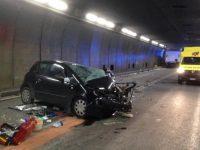 Туннель под Альпами закрыт из-за крупной автомобильной аварии