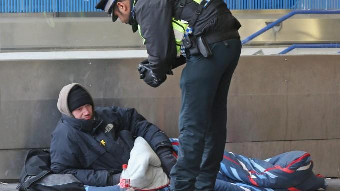 В Англии проживает 250 тысяч бездомных