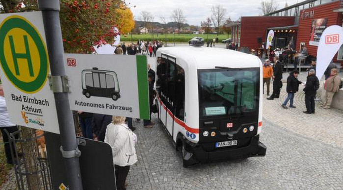 В Баварии начал работу первый автономный автобус