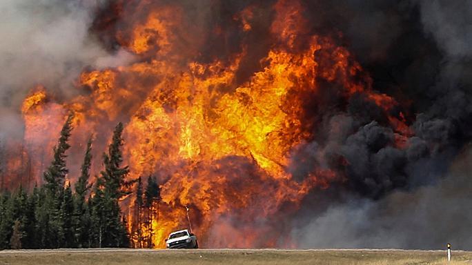 В Калифорнии из-за масштабных пожаров проводят эвакуацию населения