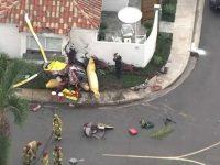 В США вертолет упал на дом, три человека погибли