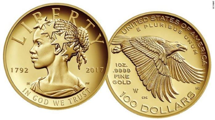В США впервые появилась монета с чернокожей женщиной