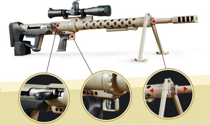 В Украине создали снайперскую винтовку под калибр .50 BMG (видео)