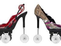 Во Франции начали выпускать женские туфли на колесиках