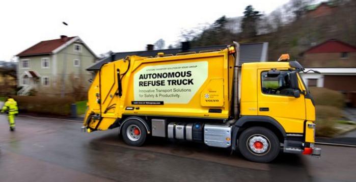 Volvo начинает испытания автономного мусоровоза