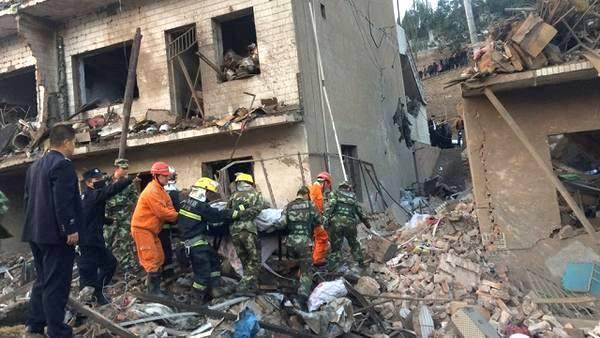 Взрыв в Китае: 14 жертв, более сотни пострадавших