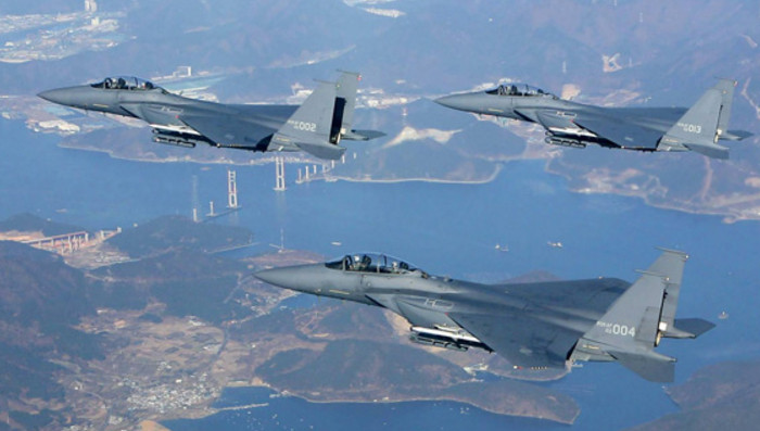 Южная Корея сбросила бомбы недалеко от северокорейской границы