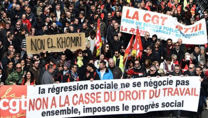 Из-за нового трудового кодекса во Франции проходят новые забастовки