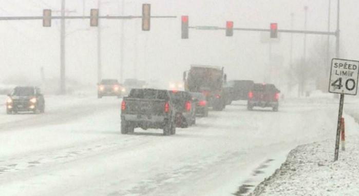 Зимний шторм накрыл северо-восток США